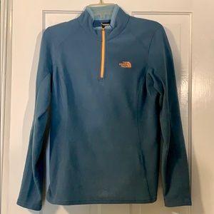 Light blue North Face fleece quarter-zip